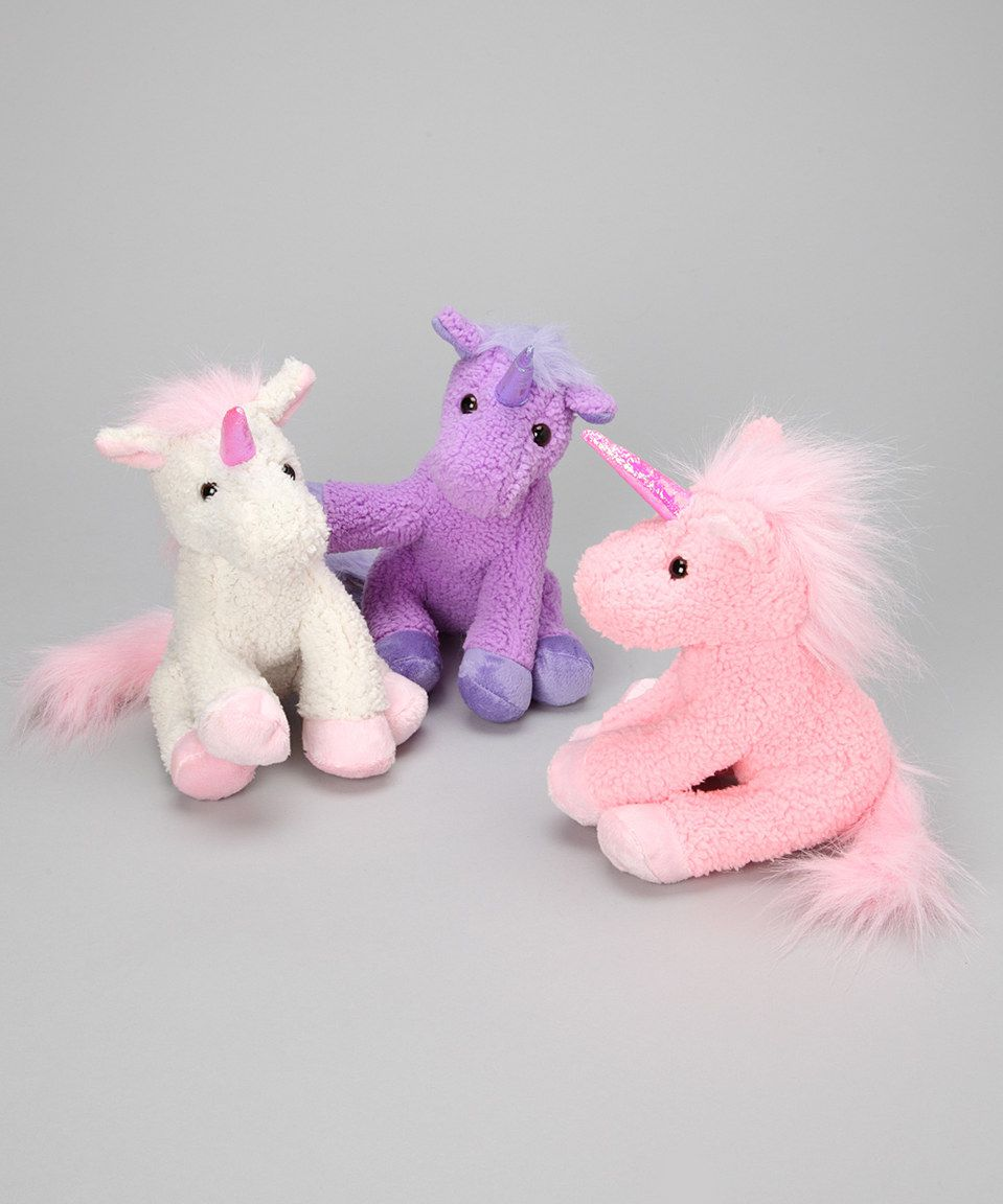 Unicorn toys images  Take a look at this Glamorous Unicorn Plush Toy Set  Set of Twelve