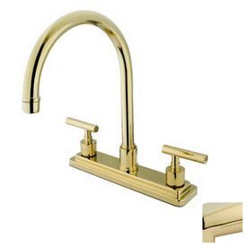 Elements of Design Manhattan Polished Brass 2-Handle High-Arc Kitchen Faucet