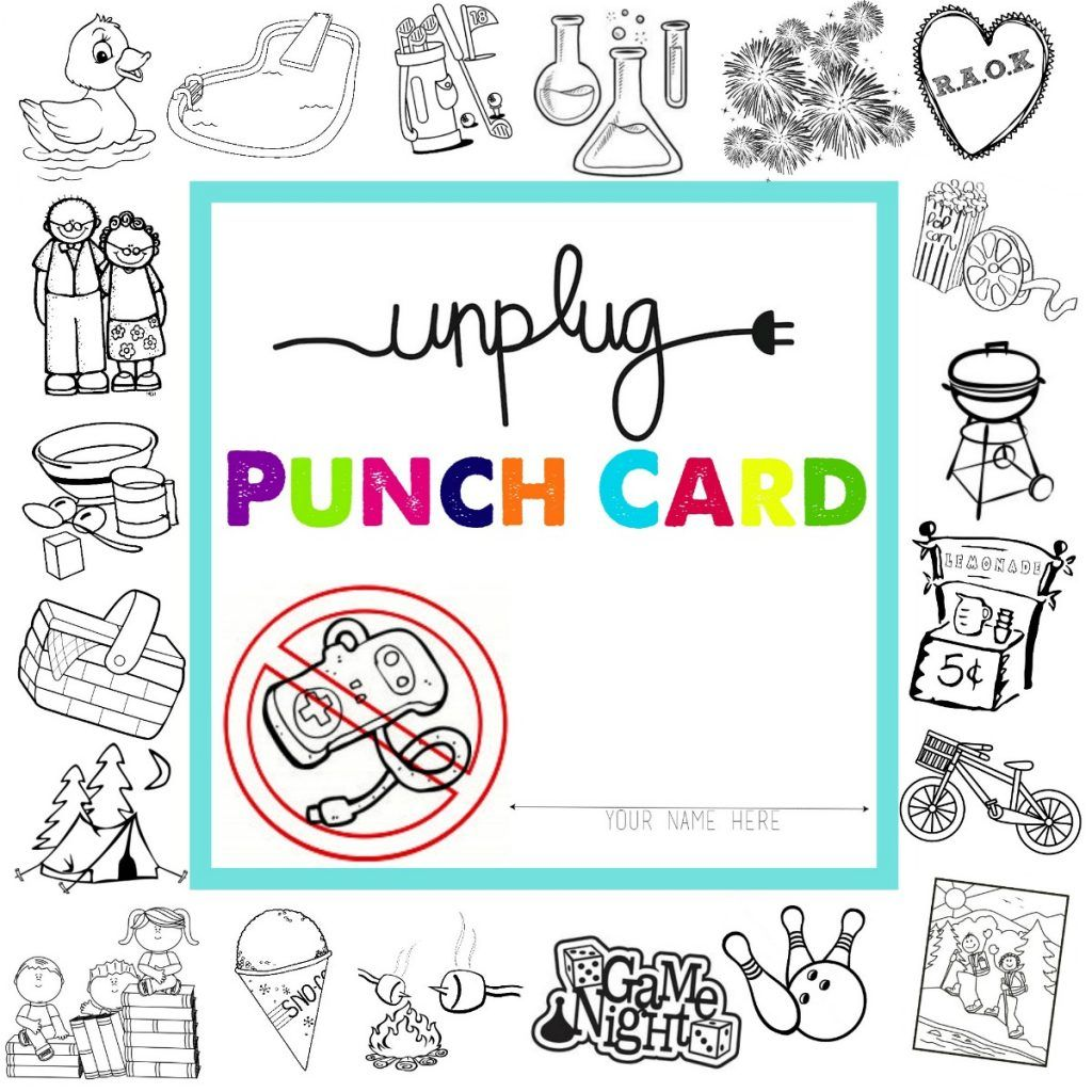 Unplugged for Summer: Free Printable Punch Cards! | Free printable ...