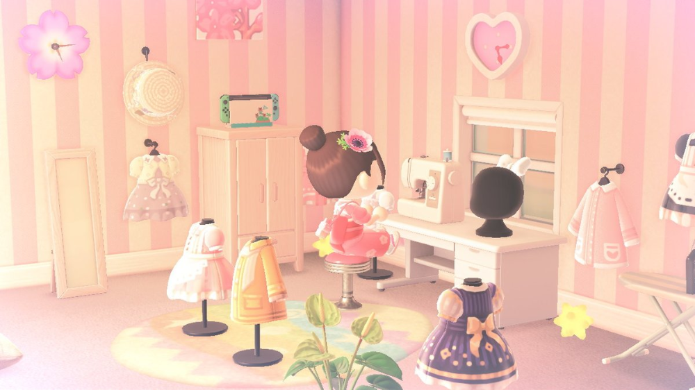 #ACNHDesign - Twitter 搜索 / Twitter in 2020 | Sewing room ... on Animal Crossing New Horizons Bedroom Ideas  id=48848