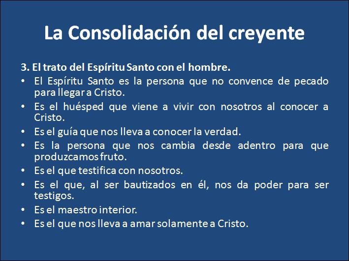 Consolidación del creyente.  Tema 2: El Espíritu Santo.