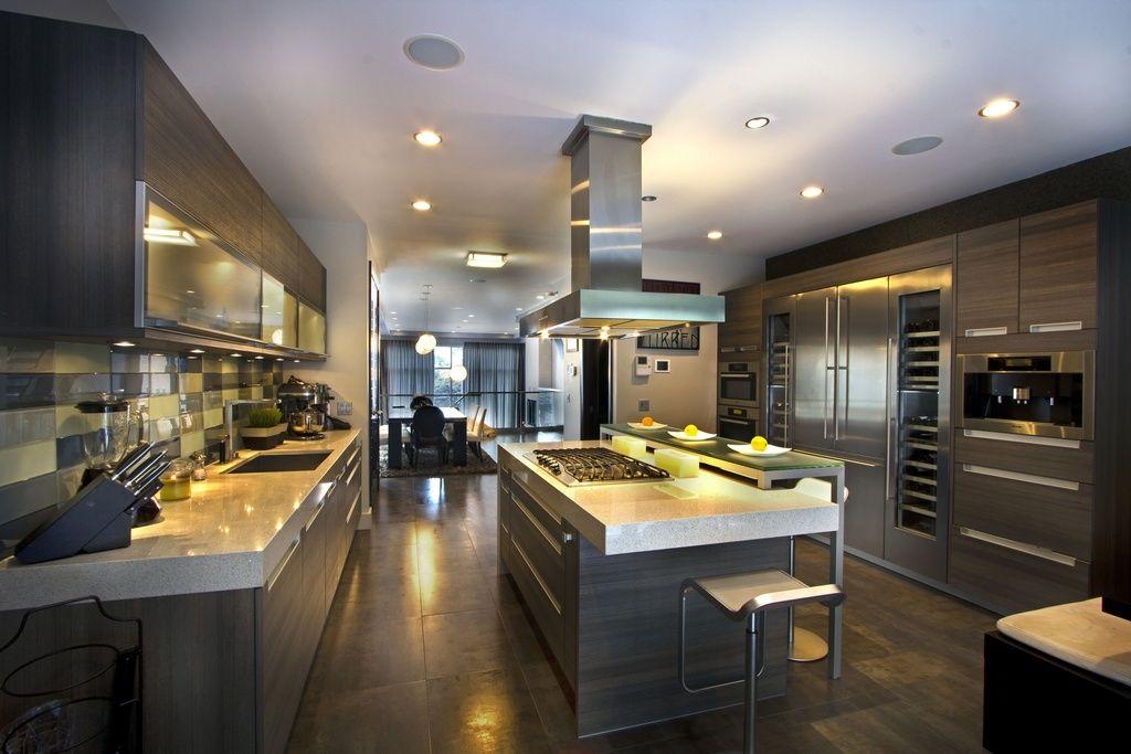 Contemporary Kitchen contemporary kitchen with subway tile, undermount sink, sub zero