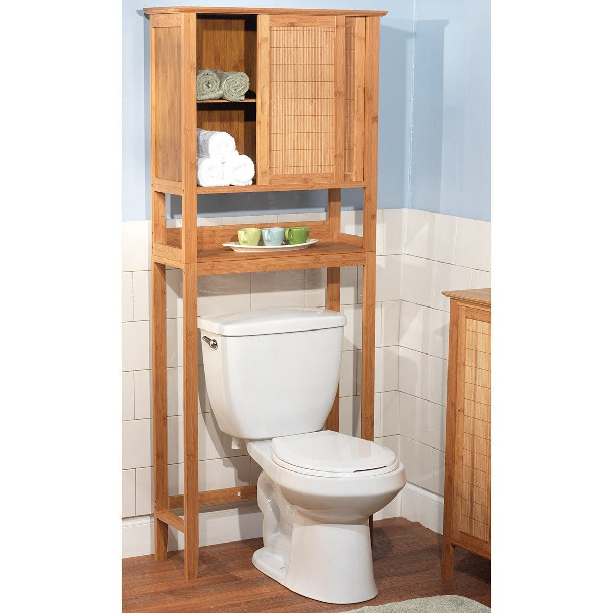 Simple Living Bamboo Space Saver Bamboo Space Saver Brown Bathroom Space Saver Toilet Storage Over Toilet Storage
