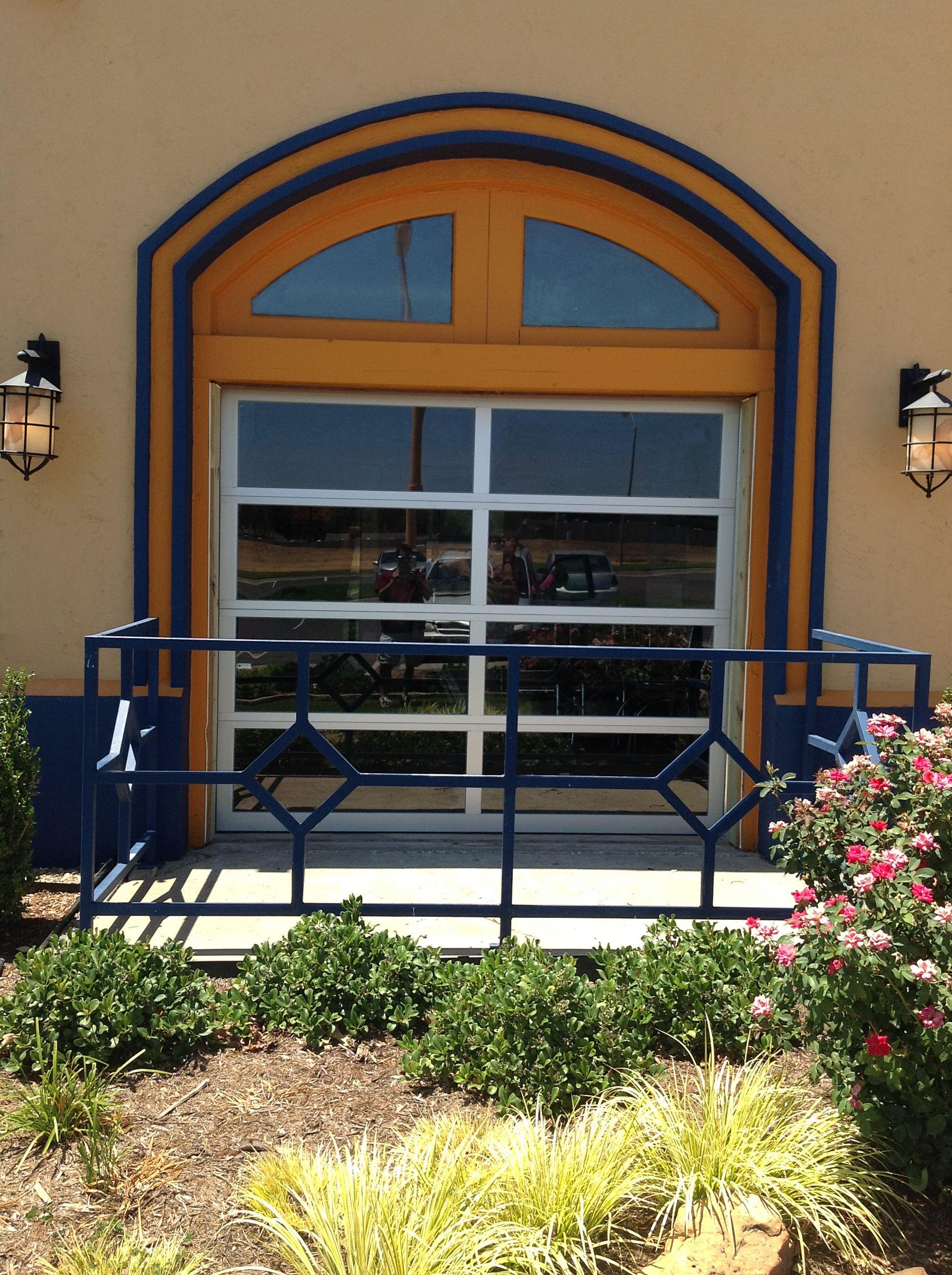 Full View Glass Garage Door Installed By Doortec In Oklahoma City