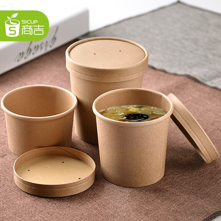 16oz White Hot Food To Go Disposable Paper Takeaway Soup Food Container