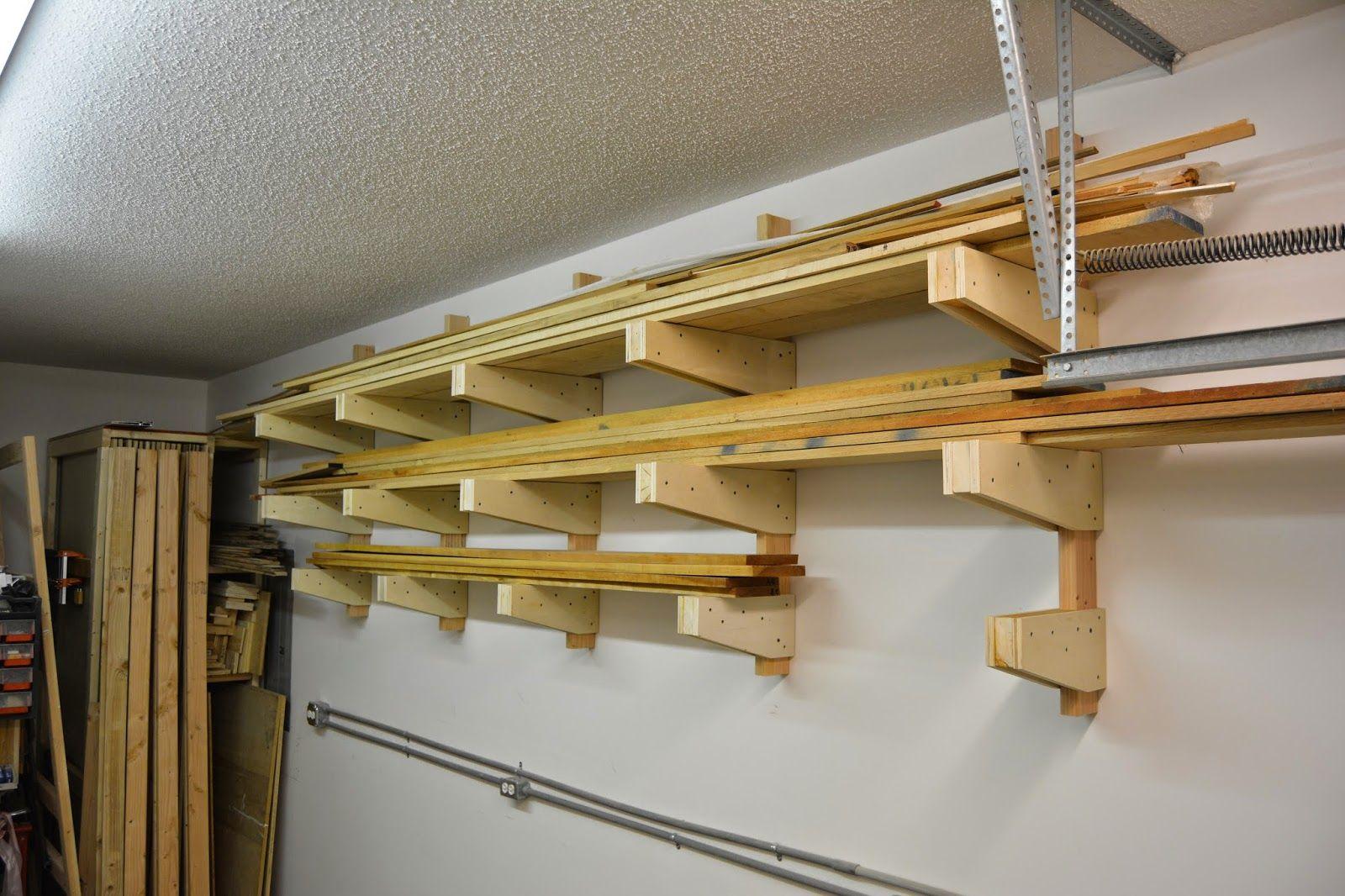 Diy Wall Mounted Lumber Rack Featuring Lane Bros Woodshop