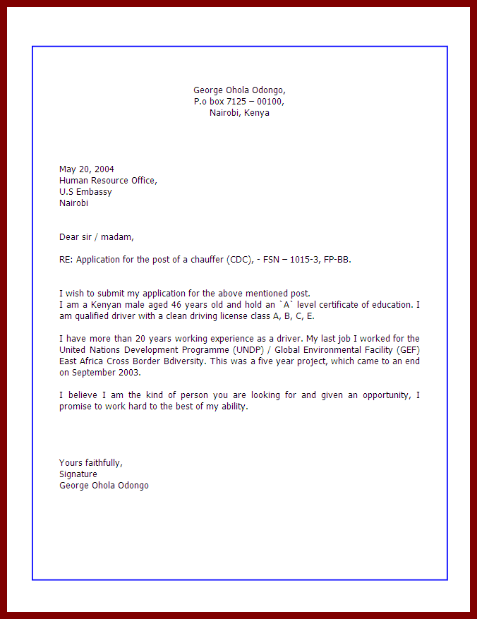 how to write application letter for a vacancy shine how to