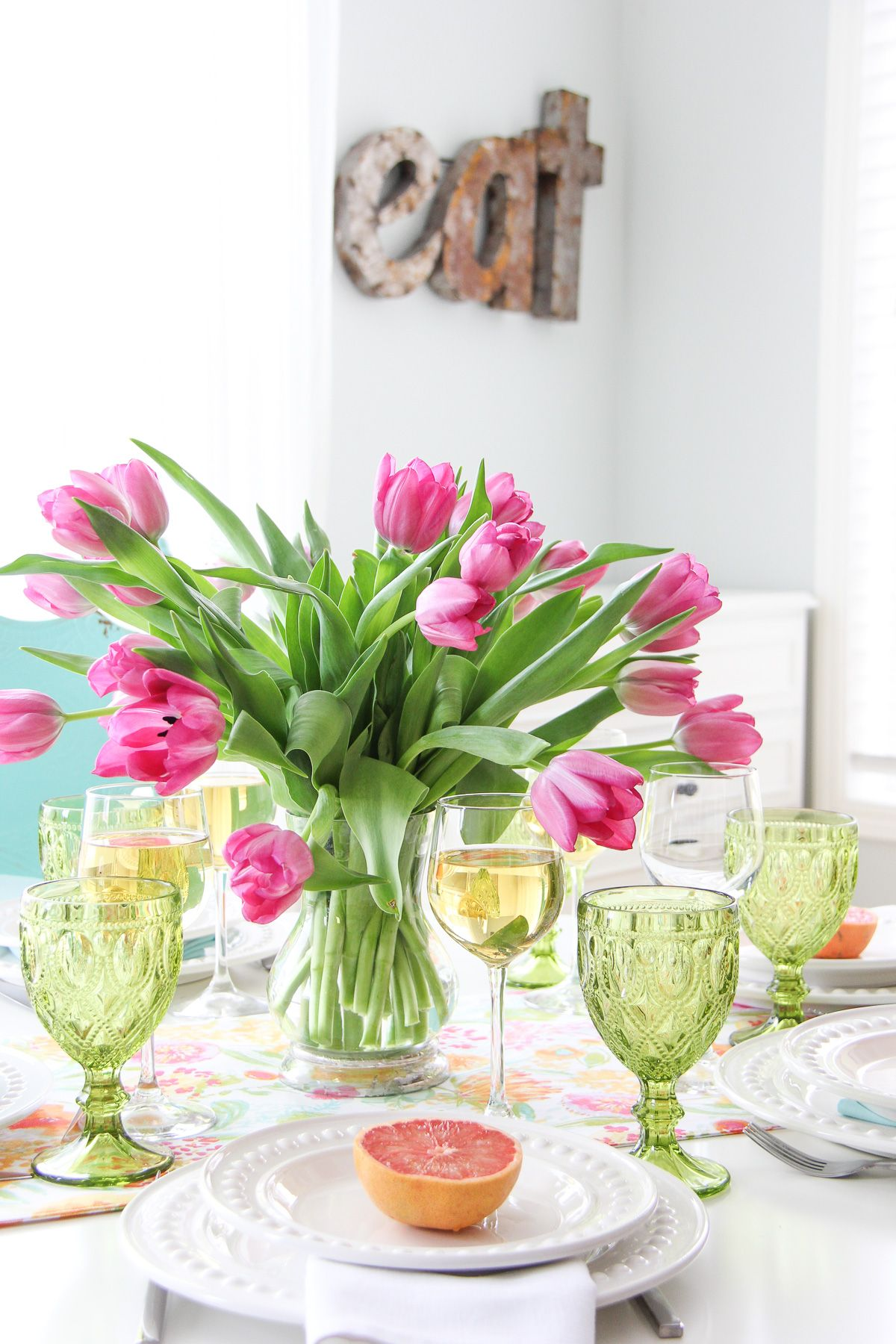 Mother S Day Brunch Table Setting Just Simple And Pretty