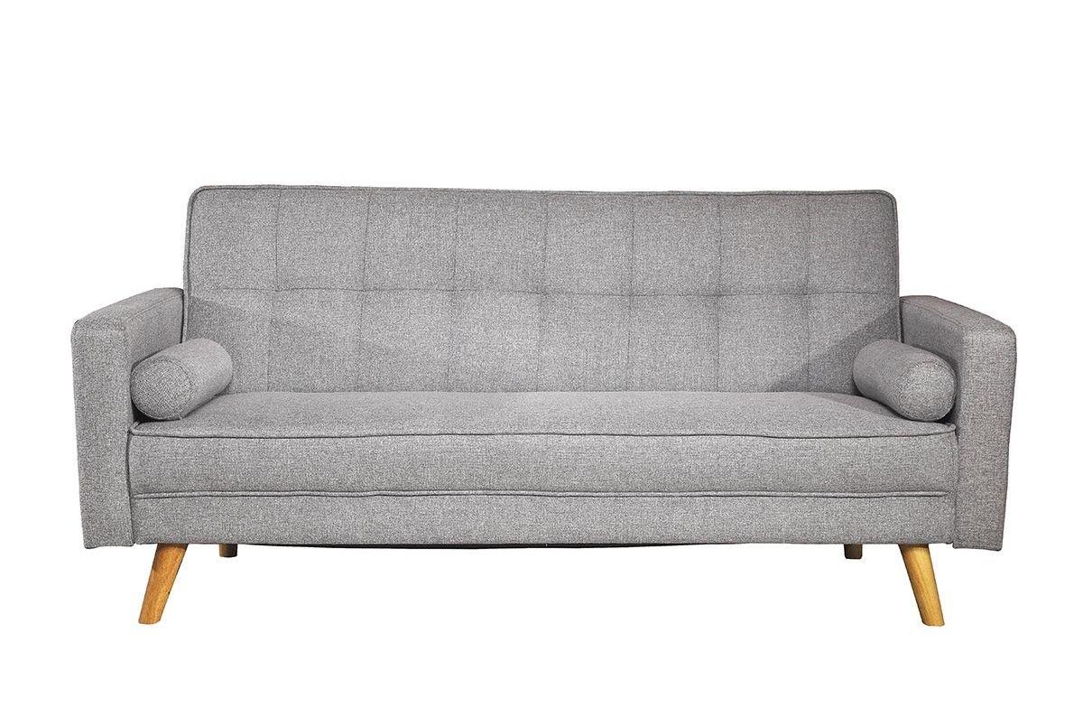 Boston grey fabric seater modern sofa bed grey fabric fabric