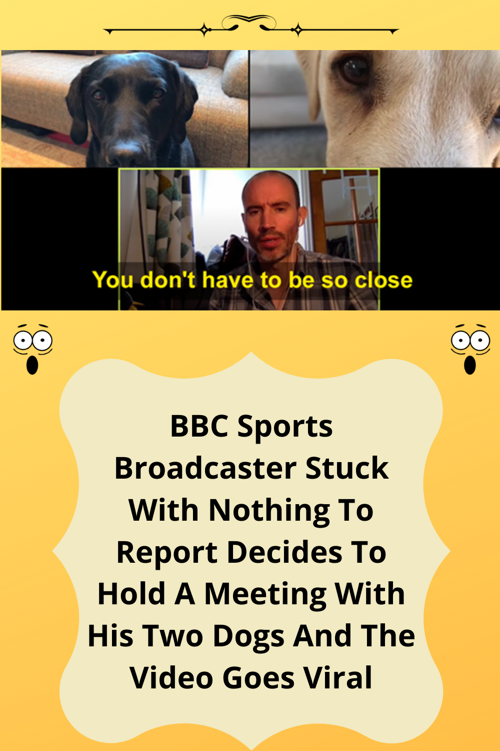BBC Sports Broadcaster Stuck With Nothing To Report