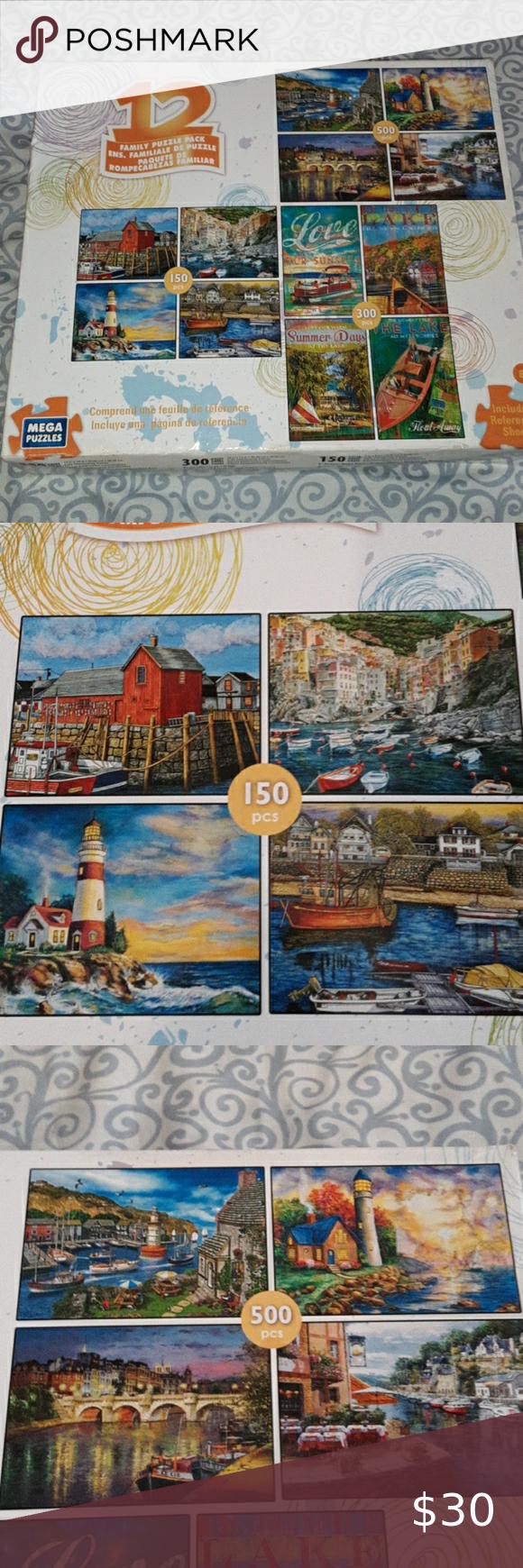 12 Puzzle Family Pack Puzzle Party Vintage World Maps Peices