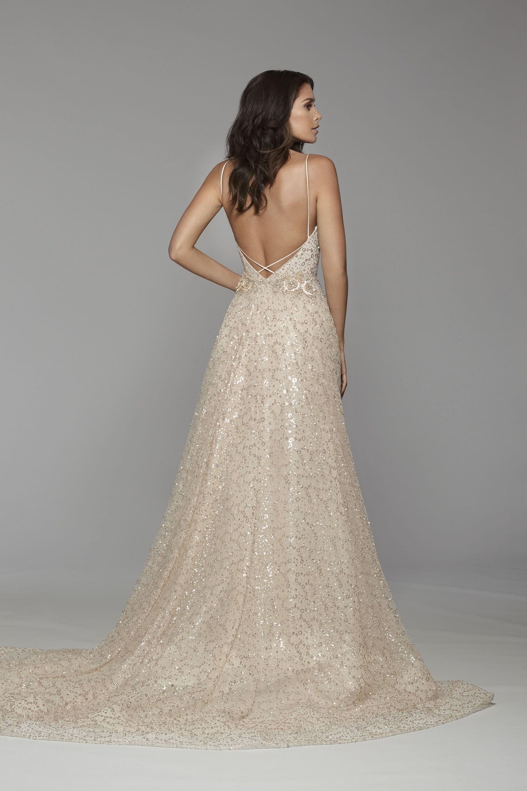 Tara Keely Bridal Style 2750 - Rose gold glitter encrusted sparkle ...