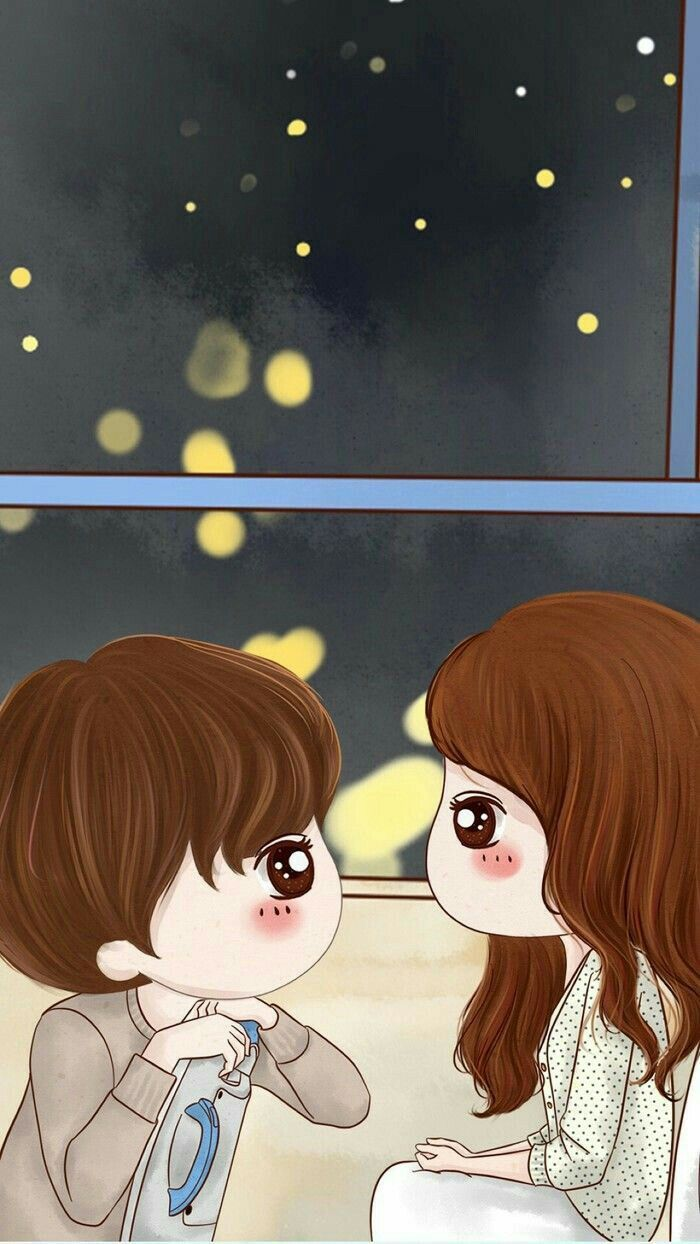 With you Te Quiero Cute couple cartoon, Cute cartoon