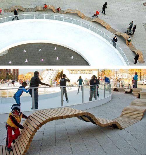 Modus Furniture Urban Seating Storage Bench Natural Linen: Exterior - Seating