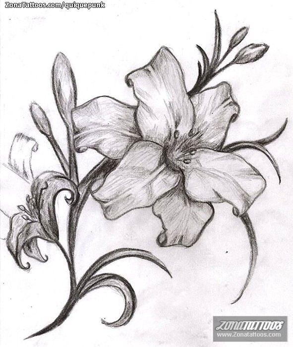 Diseño De Flores Tatuajes Pinterest Flower Tattoo Designs