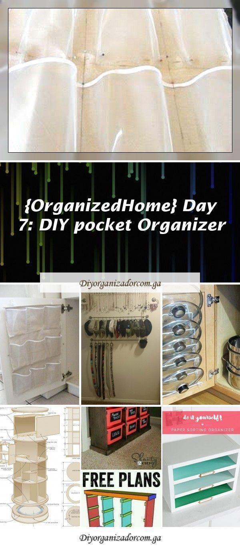 Organized Home Day 7: DIY Pocket Organizer additional storage. Cut a shoe ...#additional #cut #day #diy #home #organized #organizer #pocket #shoe #storage #summerhomeorganization