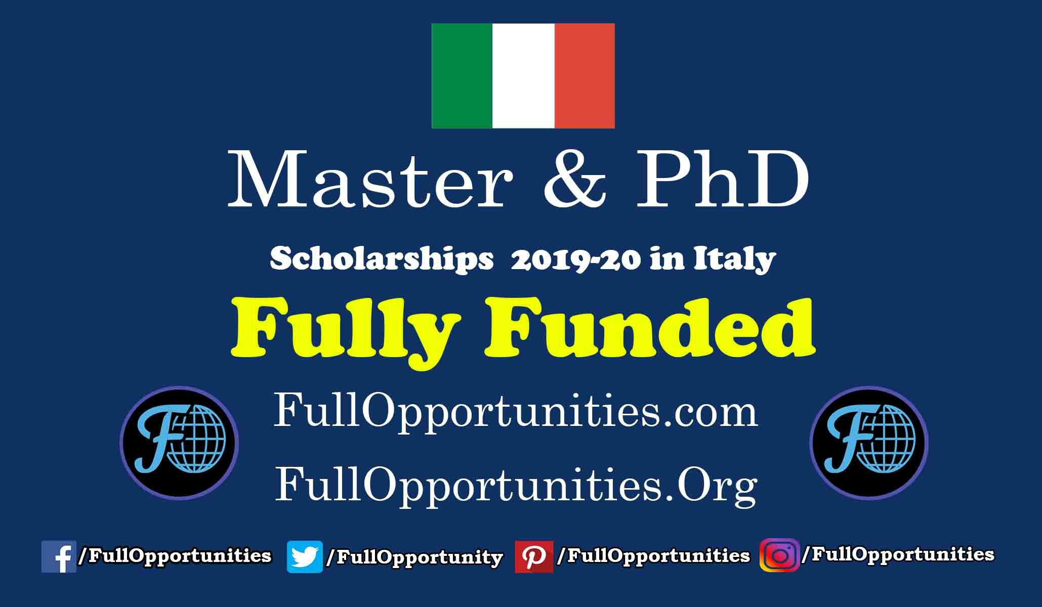 Master And Phd Scholarships From Italy Government Is The