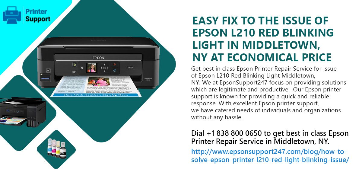 Easy Fix to the Issue of Epson L210 Red Blinking Light in