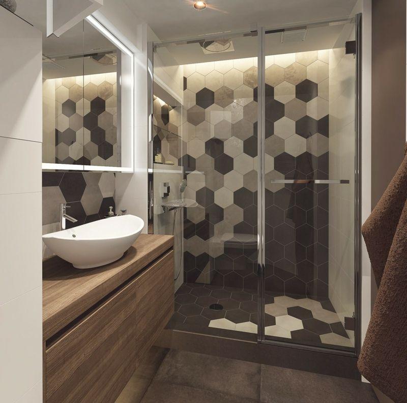 Bildergebnis für 6-eck fliesen Bad Pinterest Narrow bathroom - ideen kleine bader fliesen