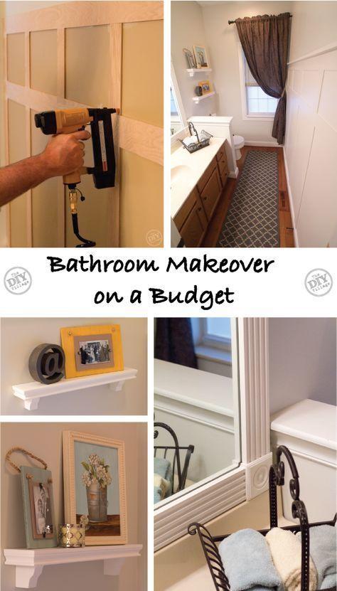 A Bathroom Makeover on a Budget! the DIY village Home
