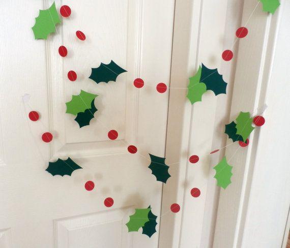 Guirnalda de vacaciones navidad manualidades navidad navidad y navidad reciclada - Guirnaldas navidad manualidades ...