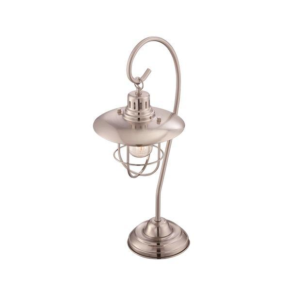 Lite Source Lanterna II 1 Light Table Lamp (Polished Steel), Grey (Metal)