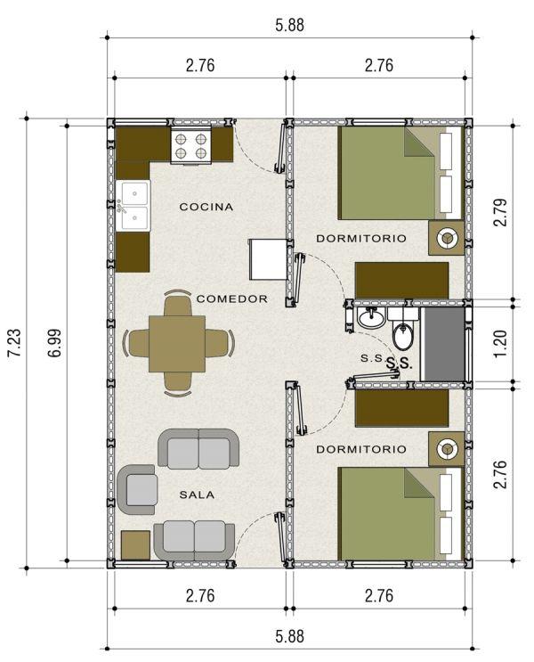 Casa prefabricada venecia multiblocks mi casa en 2019 for Casas prefabricadas pequenas