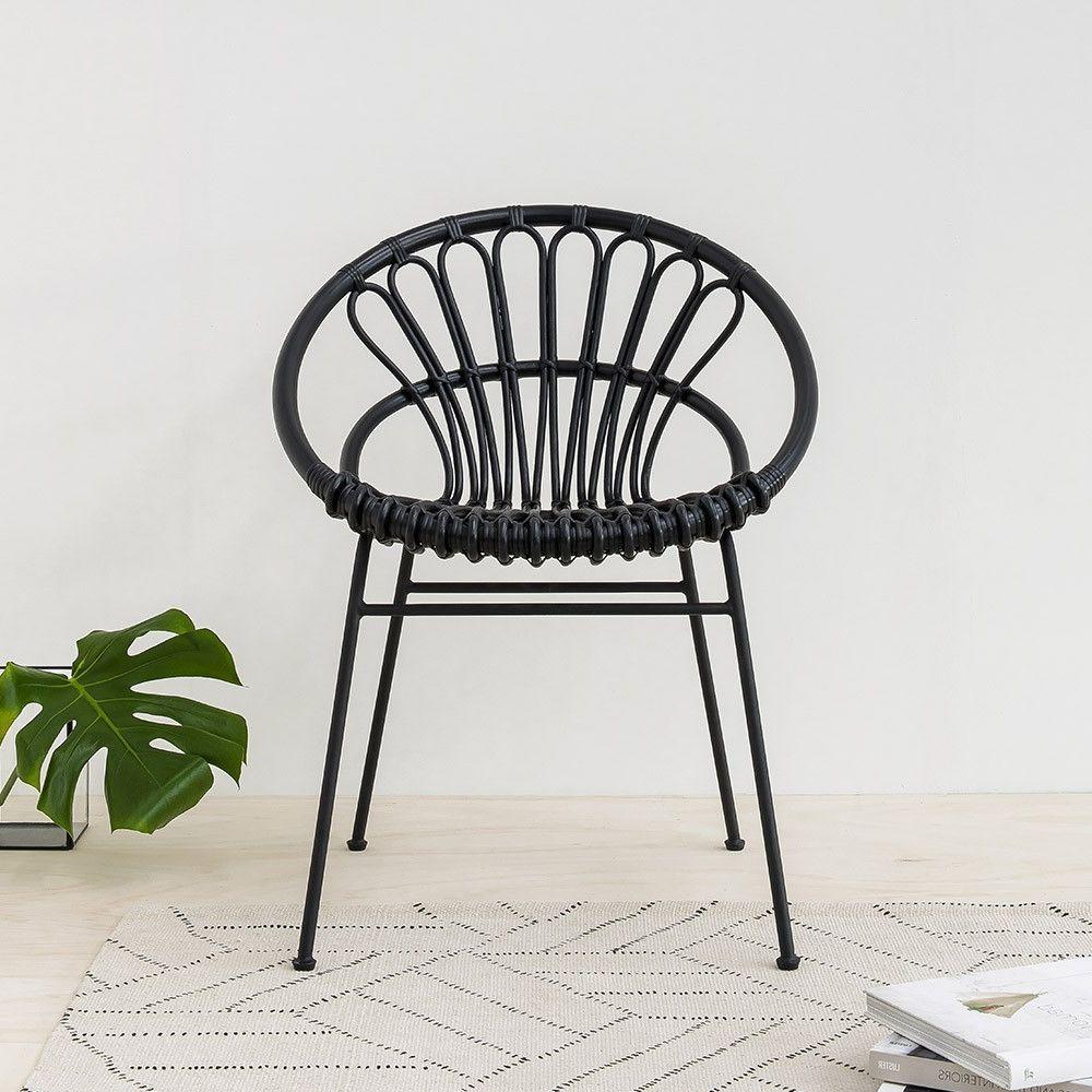 Jinko Rattan Chair In Black Rattan Natural Furniture Design Natural Interiors Lagom Design Trend Outdoor Dining Chairs Dining Chairs Rattan Dining Chairs