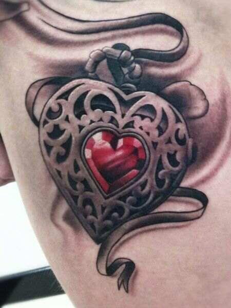 Sacred Heart 3d Texture Jewel Tattoo Ideas Pinterest Tattoos