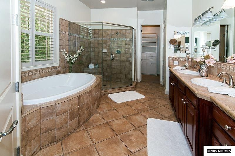 traditional master bathroom. Traditional Master Bathroom With Lydia Widespread Faucet, High Ceiling, Lystra Pecan Porcelain Tile