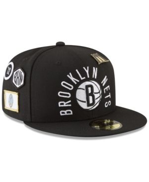 online retailer 4a2eb fdbf3 New Era Brooklyn Nets City On-Court 59FIFTY Fitted Cap - Black 7 1 2