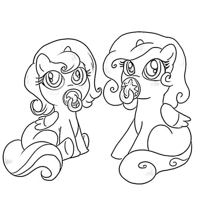Mlp Baby Ponies My Little Pony Coloring My Little Pony Baby Cute Coloring Pages