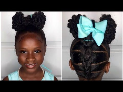 Photo of Textured Bun-Hawk Tutorial | Kids Natural Hairstyle | IAMAWO…