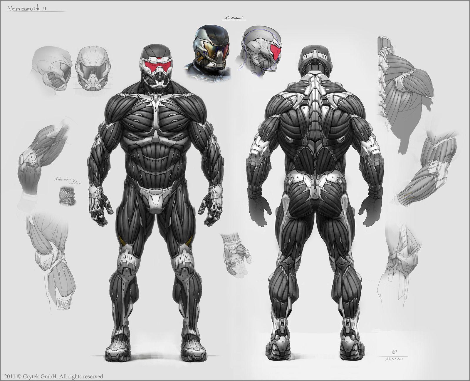 Character Design History : Merging the nanosuit mjolnir armor spacebattles forums