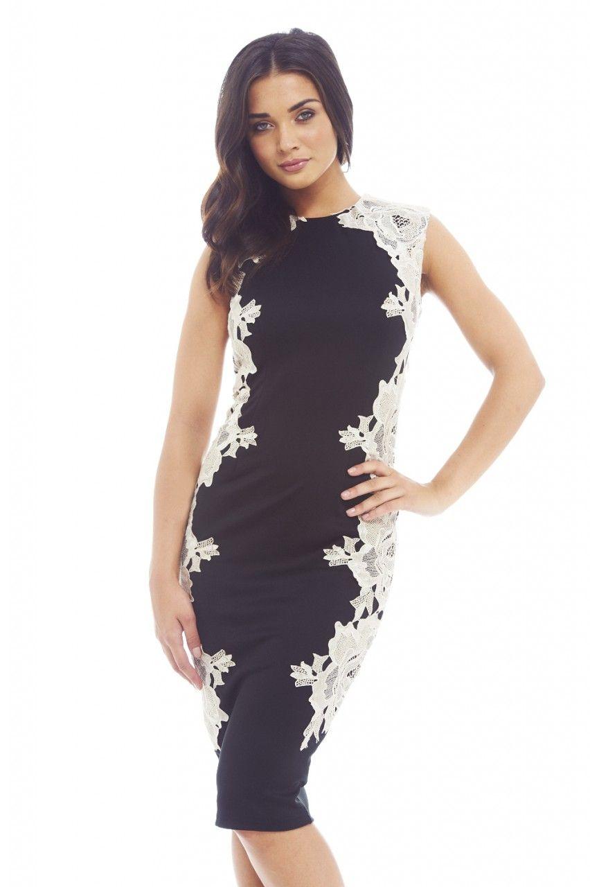 AX Paris Crochet Lace Midi Dress & Reviews - Dresses