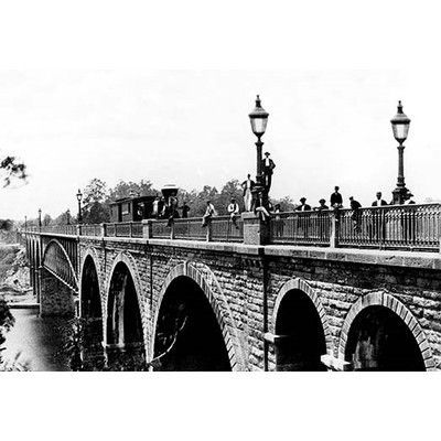 Buyenlarge Train Bridge, Philadelphia, PA by Free Library of Philadelphia Photographic Print