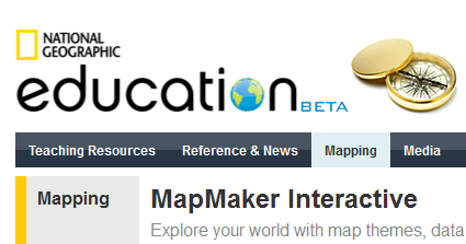 NATGEO MAPMAKER INTERACTIVE - This is a slick tool! Users can create ...