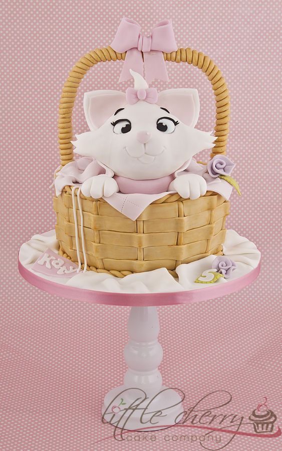 Cute Cat Cake Cakes Pinterest Marie aristocats Cake and Cake