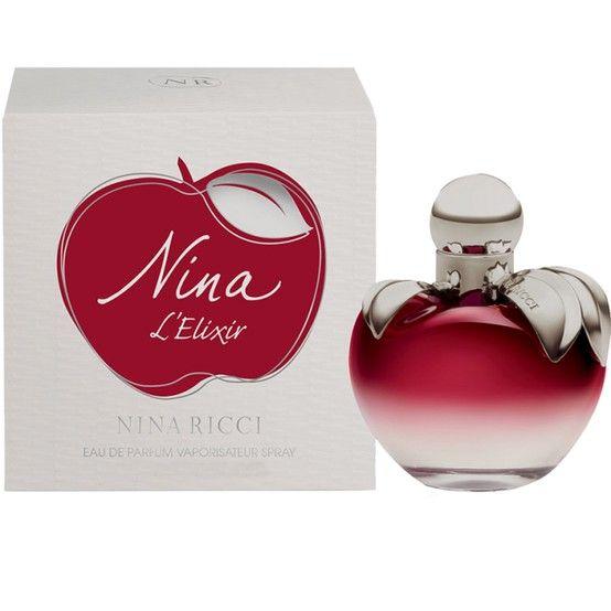 Nina L'Elixir: El nuevo perfume mágico y hechizante de Nina Ricci. Todo el universo suculento y mágico de Nina se encuentra en este Elixir que se propone ser una reinterpretación más rica y sofisticada del original. El perfume es el de la joven Nina que se ha afirmado añadiendo matices y sutilezas.
