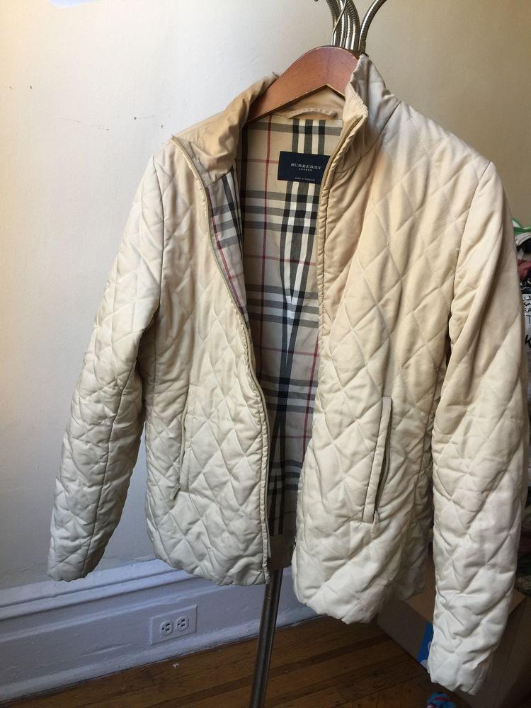 Burberry London Women's Down Quilted Jacket Coat Womens Nova Check ... : burberry quilted jacket ebay - Adamdwight.com