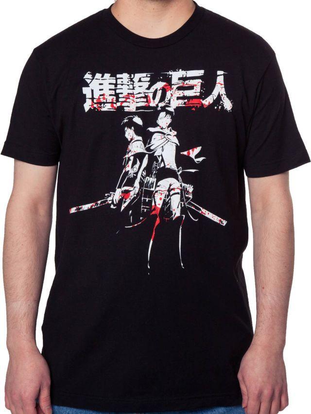 Levi and Eren Attack on Titan T-Shirt - The Shirt List