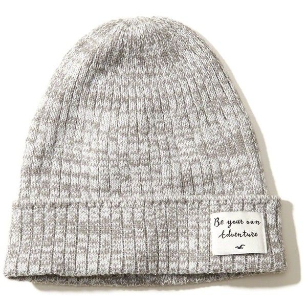 Hollister Patch Slouchy Beanie (75 ILS) ❤ liked on Polyvore featuring accessories, hats, black, slouchy beanie, beanie cap, ribbed beanie, slouch hat and slouch beanie