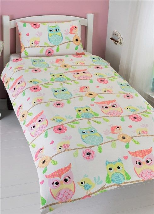 owl bedding i just love these pastel colors