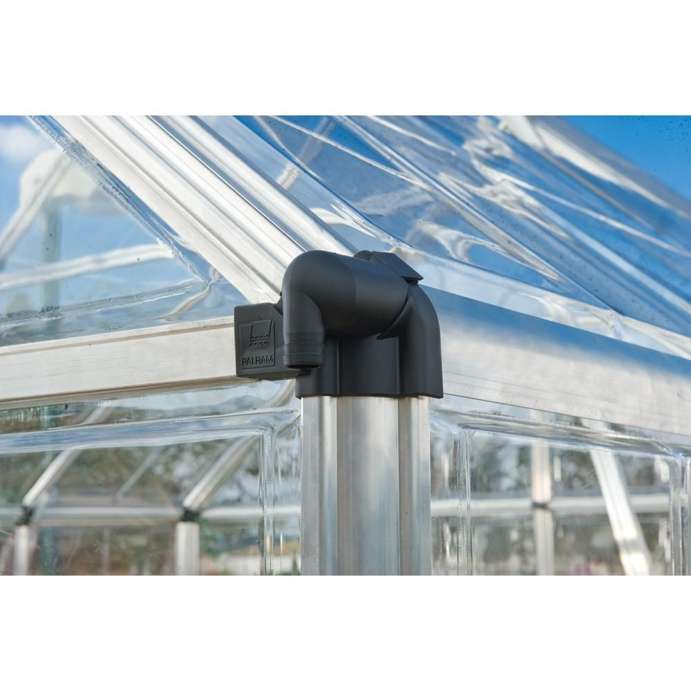 Palram Snap and Grow 6 ft. x 8 ft. Silver Polycarbonate