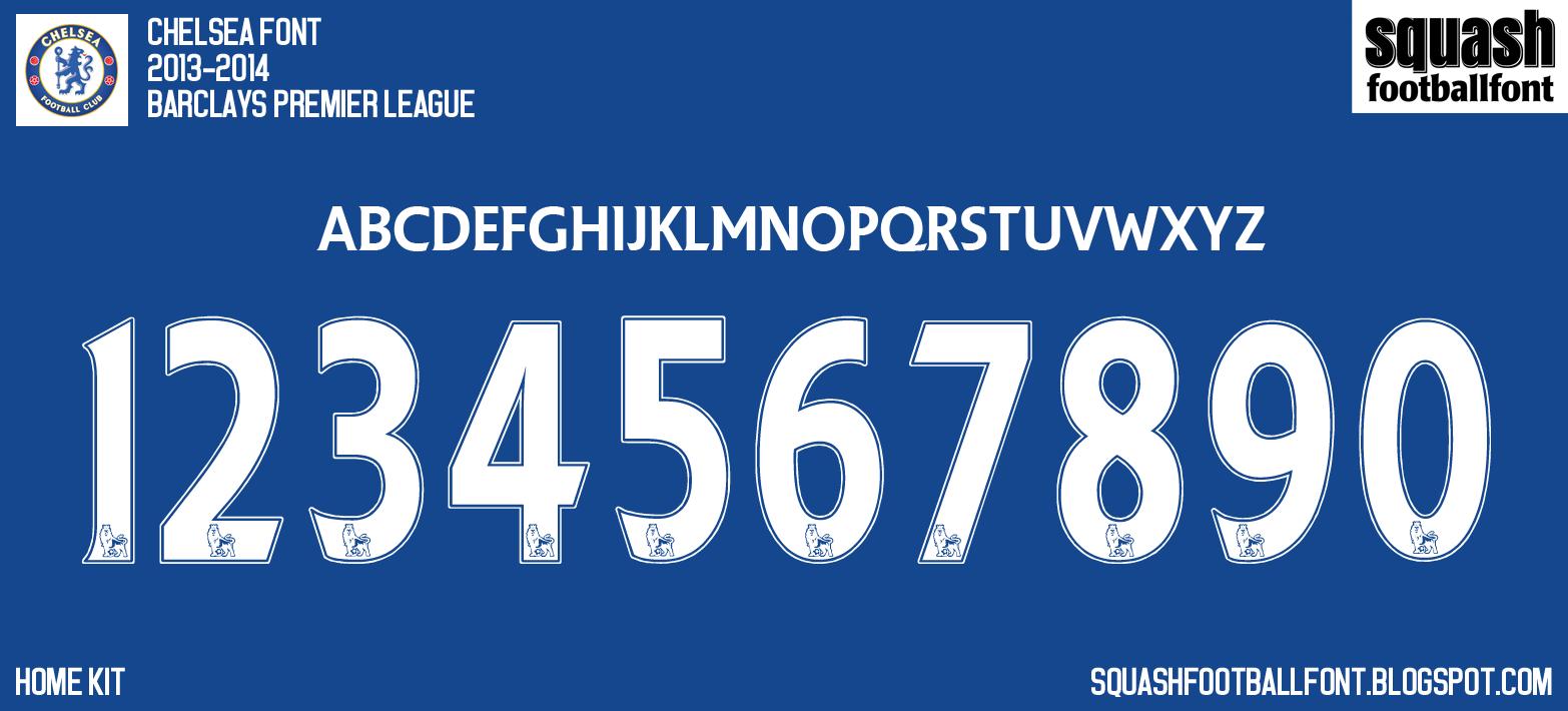 Sff Chelsea 2013 2014 Premier League Font Sports Fonts Script Lettering Premier League
