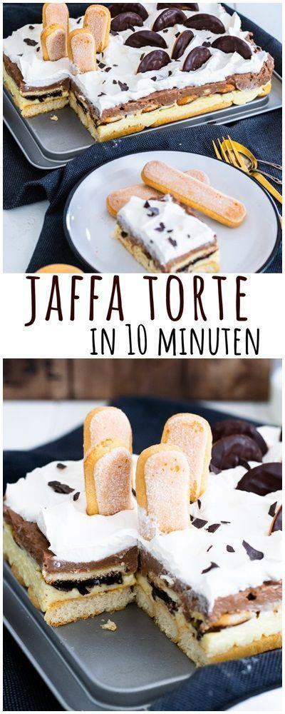 Schnell und ohne Backen - cremige JAFFA TORTE - Unalife #schnelletortenrezepte