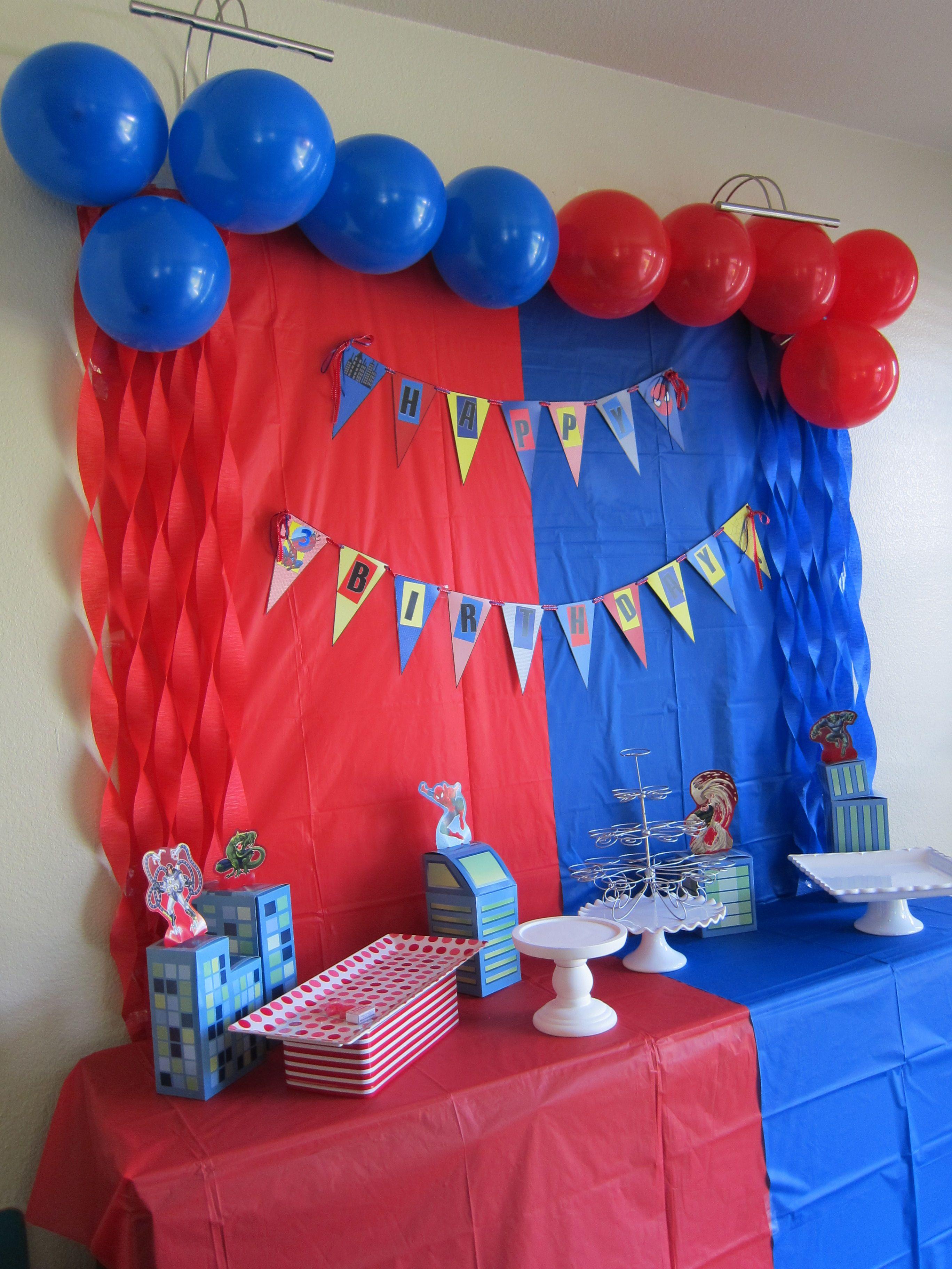 Spiderman Theme Birthday Spiderman Birthday Party Spiderman