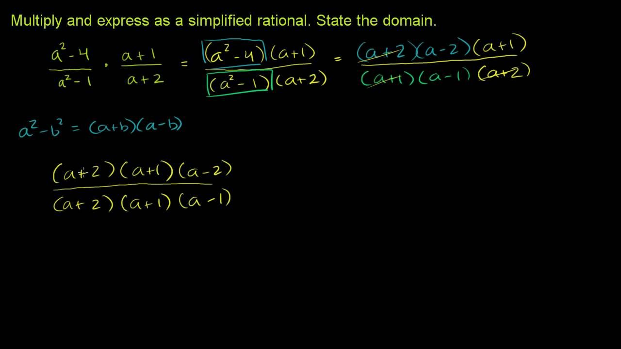 Multiplying and dividing rational expressions 2 rational