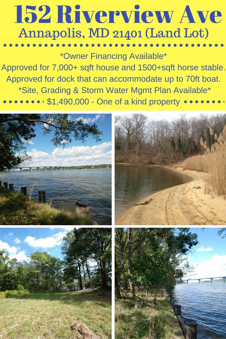 A One Of A Kind Beautiful Land Lot For Sale Right On The Water In Annapolis