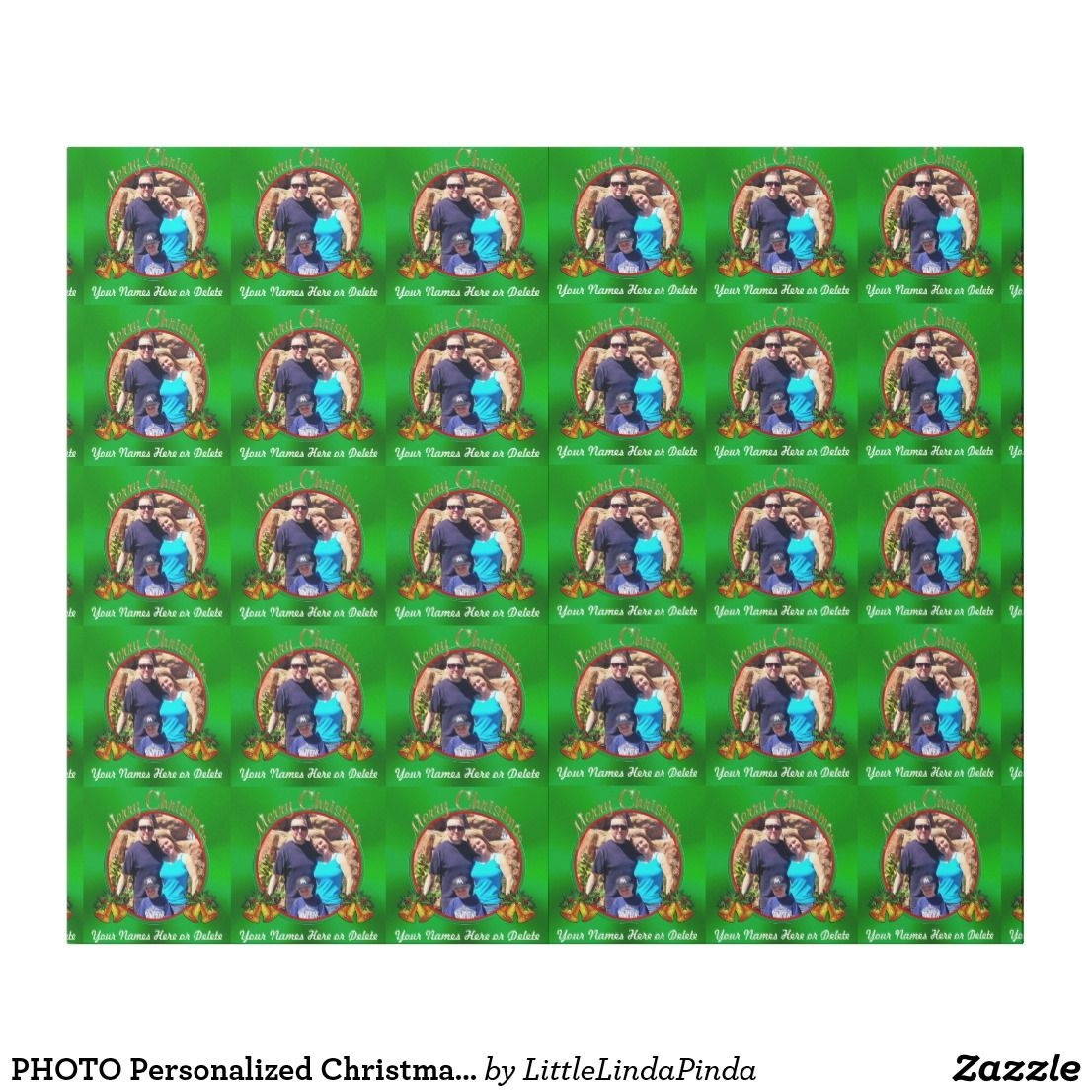 photo personalized christmas wrapping paper